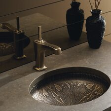 Lilies Lore Cast Bronze Undermount Bathroom Sink