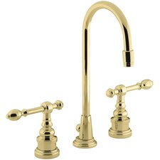 Iv Georges Brass Widespread Bathroom Sink Faucet with High Country Swing Spout and Lever Handles
