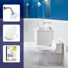 Moxie 2.0 GPM Single-Function Showerhead, Toilet Seat and Flush Retrofit Kit Set