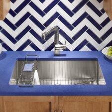 "Strive 32"" x 18-1/4"" x 9-5/16"" Undermount Single Bowl Kitchen Sink with Basin Rack"
