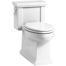 Tresham Comfort Height Skirted One-Piece Compact Elongated 1.28 GPF Toilet with Aquapiston Flush Technology and Left-Hand Trip Lever