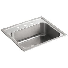 "Toccata 25"" x 22"" x 7-11/16"" Top-Mount Single-Bowl Kitchen Sink with 3 Faucet Holes"