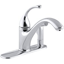 "Forté 3-Hole Kitchen Sink Faucet with 9-1/16"" Spout with Matching Finish Sidespray In Escutcheon"