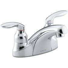 Coralais Centerset Commercial Bathroom Sink Faucet with Grid Drain and Lever Handles