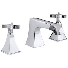 Memoirs Stately Deck-Mount Bath Faucet Trim with Non-Diverter Spout and Cross Handles, Valve Not Included