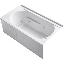 Devonshire Alcove Whirlpool with Integral Apron, Tile Flange, Right-Hand Drain and Bask™ Heated Surface