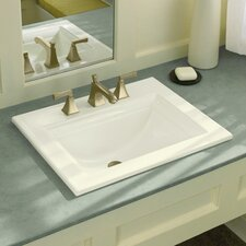 "Memoirs Stately Drop-In Bathroom Sink with 8"" Widespread Faucet Holes"