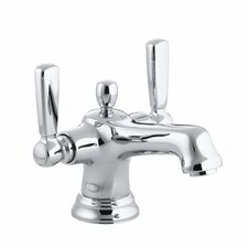 Bancroft Monoblock Single-Hole Bathroom Sink Faucet with Escutcheon and Metal Lever Handles