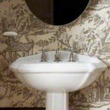 "Portrait Pedestal Bathroom Sink Basin with 8"" Widespread Faucet Holes"