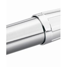 Commercial 6' Shower Rod Set in Polished Chrome