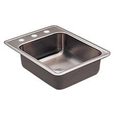 "Commercial 22"" x 17"" 20 Gauge Single Bowl Kitchen Sink"