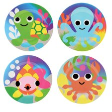 "Ocean 8"" Kids Plate 4 Piece Set"
