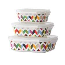 Ziggy 3 Piece Porcelain Storage Container Set