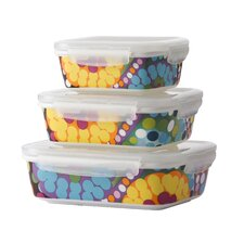Bindi 3 Piece Porcelain Storage Container Set