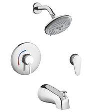 Focus S HG Pressure Balance Tub and Shower Faucet with Lever Handle
