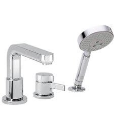 Metris S Single Handle Deck Mounted Roman Tub Faucet Trim with Hand Shower