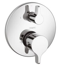 Thermostatic Volume Control and Diverter Faucet Trim with Lever Handle