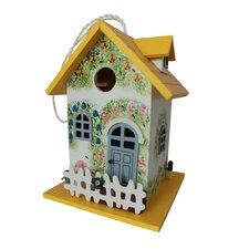 Flower Wren/Finch/Chickadee/Nuthatch Hanging Birdhouse