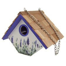 Lavender Wren Hanging Birdhouse