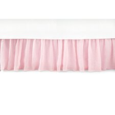 Savannah Linen Gauze Blush Bed Skirt