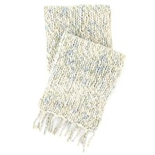 Chunky Knit Mist Wool Throw