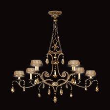 Golden Aura 8 Light Chandelier