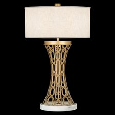 "Allegretto Gold 32"" H Table Lamp with Drum Shade"