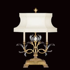 "Beveled Arcs 32"" H Table Lamp with Bell Shade"