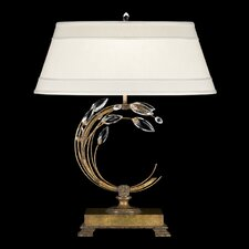 "Crystal Laurel Gold 31"" H Table Lamp with Empire Shade"