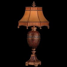 """Brighton Pavillion 36"""" H Table Lamp with Bell Shade"""