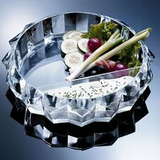 Grainware Tiara Chip & Dip Tray
