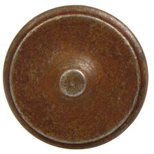 Antique Rust Mushroom Knob