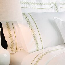 Sateen Embroidered 400 Thread Count Fern Pilllow Case