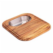 Euro-Pro Wooden Cutting Board with Colander in Teak