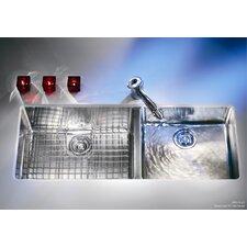 "Kubus 42.94"" x 17.94"" Double Bowl Kitchen Sink"