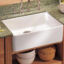 """Manor House 19.69"""" x 15.75"""" Fireclay Apron Front Kitchen Sink"""