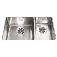 "Professional 31.88"" x 18.13"" Double Bowl Kitchen Sink"