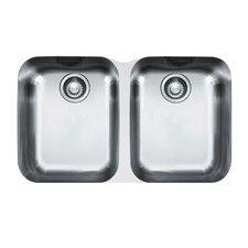 "31"" x 19.13"" Artisan Double Bowl Undermount Kitchen Sink"