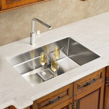 "Peak 22.81"" x 17.75"" Single Bowl Kitchen Sink"