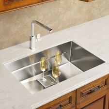 "Peak 28.75"" x 17.75"" Single Bowl Kitchen Sink"