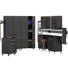 Garage 8-Piece Deluxe Storage System with Workstation
