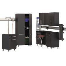 Garage 7-Piece Storage System with Workstation