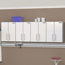 Ulti-MATE Storage 2.5' H x 8' W x 1.5' D 4-Piece Wall Cabinet