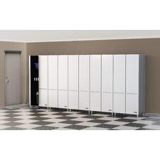 """Ulti-MATE Storage 80"""" H x 177.5"""" W x 21"""" D 5-Piece Tall Cabinet Set (Set of 5)"""