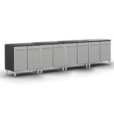 Garage PRO 3' H x 12' W x 2' D 4-Piece Base Cabinet Set