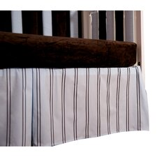 Baby Basics Striped Box Pleat Crib Skirt