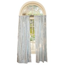 Blue with Chocolate Stripes Curtain Panels (Set of 2)