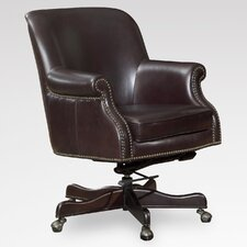 Leather Conference Chair with Arms