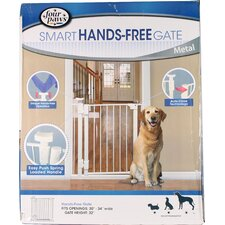 Hands-Free Metal Dog Gate