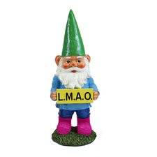 Gnomes with Text Abbreviations Statue